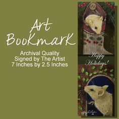 Mouse Bookmark From Original Painting by Melody by MelodyLeaLamb, $5.00