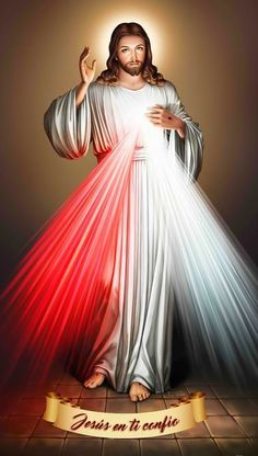 Jesus of Divine Mercy Jesus Christ Painting, Jesus Art, God Jesus, Jesus Mercy, Divine Mercy Jesus, Heart Of Jesus, Miséricorde Divine, Divine Mercy Image, Jesus And Mary Pictures