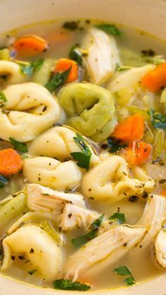 Tortellini Chicken Noodle Soup Recipe