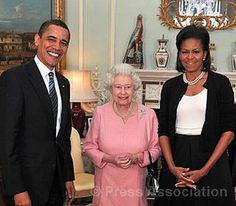 President Barack Obama and Mrs. Obama with Queen Elizabeth