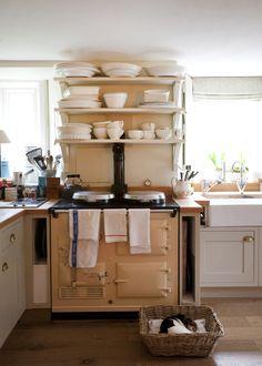 Realistic kitchen with Aga stove. Realistic kitchen with Aga stove. Aga Kitchen, Kitchen Dining, Kitchen Decor, Kitchen Small, Cozy Kitchen, Small Kitchens, Kitchen Ideas, Life Kitchen, Rustic Kitchen
