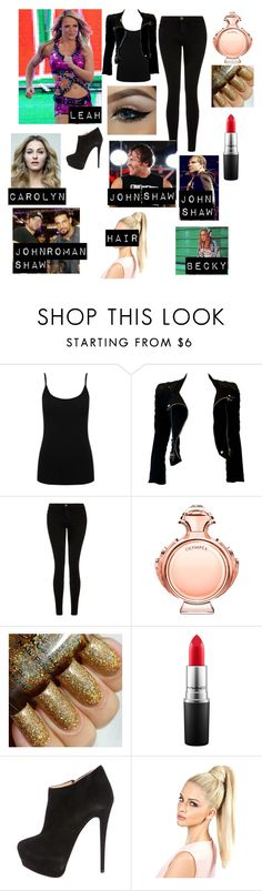 """What? Your the culprit-Leah 12 Rounds 3: Lockdown Roleplay *Read D*"" by deanambrosesonlygirl ❤ liked on Polyvore featuring WWE, M&Co, Balmain, Current/Elliott, Paco Rabanne, MAC Cosmetics and Giuseppe Zanotti"