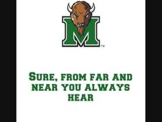 Marshall University Thundering Herd - fight song with words - Sons of Marshall Marshall University, West Virginia University, University Of Louisville, State University, Marshall Football, Conference Usa, Virginia Hill, Fight Song, House Divided