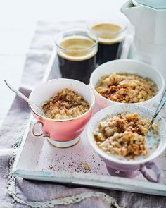 The best thing about porridge for breakfast is adding all your favourite toppings. We've combined creamy oats with cinnamon and apple for a real morni