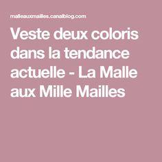 Veste deux coloris dans la tendance actuelle - La Malle aux Mille Mailles