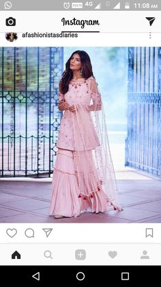 Pakistani Dress Design, Pakistani Outfits, Indian Outfits, Sarara Dress, Lehnga Dress, Simple Dresses, Beautiful Dresses, Indian Bridal Lehenga, Pakistani Bridal