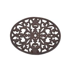 """Baroque Bistro Trivet   dotandbo.com Dimensions 9"""" L x 6.37"""" W Material Cast iron Features Can be used as a trivet or wall décor"""