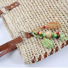 ステッチ トリミング 編み 肩掛け ナチュラル リゾート デイリー ガールズ レディース 生成 紫 緑 黄色 カゴバック 籠バッグ (グリーン)