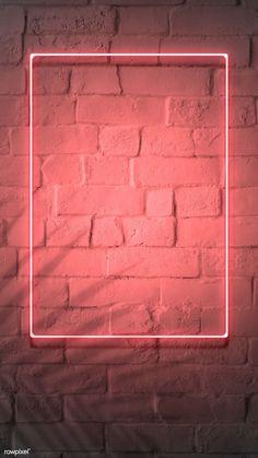 premium image of Neon red frame on a brick wall 894328 Framed Wallpaper, Phone Screen Wallpaper, Neon Wallpaper, Graphic Wallpaper, Aesthetic Iphone Wallpaper, Brick Wall Wallpaper, Iphone 6 Wallpaper, Marco Polaroid, Instagram Frame Template