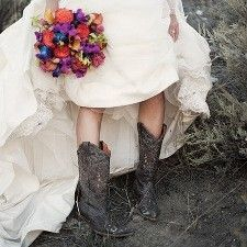 Country Girl always has her boots on. :)