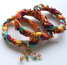 Twisted Colorful Bangle Bracelets