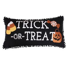 Trick or Treat Pillow 12X24