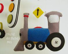 Felt train! http://roseaneatelier.blogspot.com.br