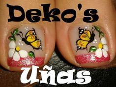 Uñas Cute Pedicure Designs, Toe Nail Designs, Cute Pedicures, Feet Nails, Toenails, Toe Nail Art, Nail Nail, Gold Eyes, Pretty Toes