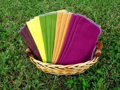 20 Cloth Napkins - Unpaper Towels - Reusable Paper Towels - Autumn Harvest