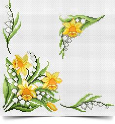 VK is the largest European social network with more than 100 million active users. Cross Stitching, Cross Stitch Embroidery, Hand Embroidery, Cross Stitch Designs, Cross Stitch Patterns, Daffodil Flower, Cross Stitch Flowers, Stitch Kit, Daffodils