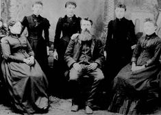 The Ingalls Family in 1894 (l-r): Caroline, Carrie, Laura, Charles, Grace and Mary