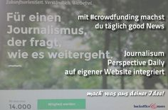 backoffice&more - Crowdfunding - Crowdfunding-Gegenleistungen Good News, Michaela, Keep Walking, Landing Pages