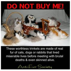 """BOYCOTT REAL FUR TRINKETS/DO NOT BUY ME, Do not buy textiles or clothing from china, belts, boot linings, coat trim, and many """"fabrics from there come from animals, and they lie and say it is something else, get educated before you buy!"""