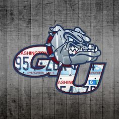Mixed Media - Gonzaga Bulldogs College Sports Team Retro Vintage Recycled Washington State License Plate Art by Design Turnpike , Basketball Season, Basketball Art, College Basketball, Bulldogs Basketball, Basketball Tattoos, Basketball Uniforms, Bulldog Wallpaper, Gonzaga Basketball, Gonzaga University