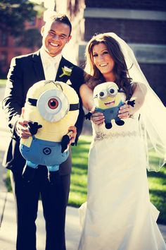 """Loving some """"Despicable Me""""! Photo by Ashley B. #minneapolisweddingphotographer"""