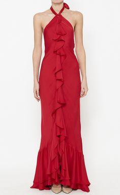 Ralph Lauren Black Label Ruby Red Dress
