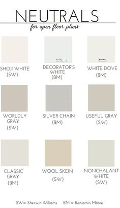 Choosing Paint For An Open Floor Plan Neutral Colors Is There One