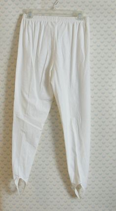 80s white/off white stirrup leggings/pants by ManinthePaperMoon