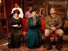 Cora (Elizabeth McGovern), Violet  (Maggie Smith), and Robert (Hugh Bonneville).
