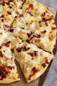 Chicken Bacon Ranch Pizza, Bacon Pizza, Pizza Pizza, Pizza Dough, Pizza Recipes, Mexican Food Recipes, Yummy Recipes, Supper Ideas, Dinner Ideas