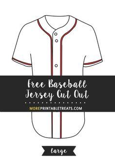 free baseball jersey cut out large