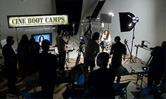 Cine Boot Camps include a full day of shooting with a script, actors, lights - the whole deal. Students get to put into practice what they learned on day 1 (DSLR camera settings) and cement in their abilities with actual practice.