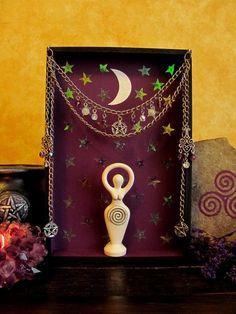 Magickal Ritual Sacred Tools: A Goddess shrine.