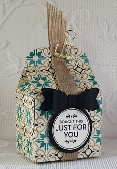 Create with Connie & Mary Saturday Blog Hop using Stampin' Up! Homemade for You, Bow Builder Punch, Burlap Ribbon and the Baker's Box Thinlits Dies. Debbie Henderson, Debbie's Designs.