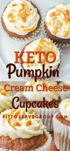 Enjoy keto pumpkin cream cheese cupcakes that are packed pumpkin spice flavors y. - Keto Recipes Enjoy keto pumpkin cream cheese cupcakes that are packed pumpkin spice flavors y. Keto Cupcakes, Keto Cookies, Cream Cheese Cupcakes, Keto Cake, Keto Cheesecake, Diabetic Cupcakes, Pumpkin Spice Cupcakes, Pumpkin Cheesecake, Keto Desserts Cream Cheese