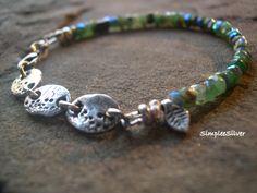 Artisan Jewelry  -  Handmade Bracelet  -  Fine Silver Disc Bracelet  -  Semi precious Gemstone Bracelet by SimpleeSilver on Etsy https://www.etsy.com/listing/219177707/artisan-jewelry-handmade-bracelet-fine