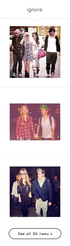 """""""ignore."""" by withlovecrystal ❤ liked on Polyvore featuring one direction, niall horan, ariana grande, zariana, manips, zayn malik, couple, crackship, home and home decor"""