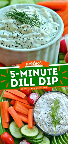 9 reviews · 5 minutes · Vegetarian · Serves 16 · This Dill Dip is an easy party food recipe that comes together in under 5 minutes! This dip appetizer recipe is always a hit. It's also one of the best 4th of July ideas to serve to your guests. Pin… Dill Dip Recipes, Easy Appetizer Recipes, Healthy Salad Recipes, Yummy Appetizers, Veggie Recipes, Lunch Recipes, Easy Dinner Recipes, Real Food Recipes, Yummy Recipes
