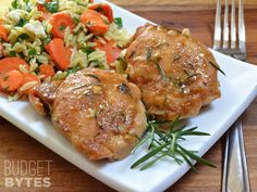 You won't find an easier, more flavorful dish than these Maple Dijon Chicken Thighs. Sweet and savory, this dish is a family pleaser. Step by step photos.