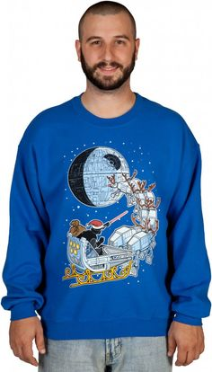 Darth Vader sleigh Christmas sweater