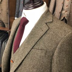 Vintage Brown Donegal Tweed Suit