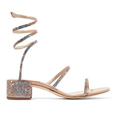 This+sandals+are+embellished+with+iridescent+crystals+that+sparkle+with+every+step.+This+leather-backed+satin+pair+is+designed+with+the+brand's+signature+coiling+straps+and+a+modest+block+heel.+Show+them+off+against+midi+and+mini+hemlines.      Heel+measures+approximately+40mm/+1.5+inches  Snake-...
