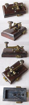 Bronze Antigo Grande Morse Telégrafo / AustroHúngaro Ferrovias / Ca 1910