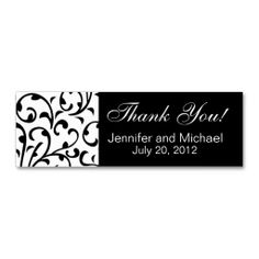 Wedding Favour Tag Black White Damask Business Card Templates. I love this design! It is available for customization or ready to buy as is. All you need is to add your business info to this template then place the order. It will ship within 24 hours. Just click the image to make your own!