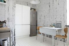 """PIA PIA BLOG - Papel de pared de la colección """"Scrapwood"""" del diseñador holandés Piet Hein Eek. Imitando troncos de madera y incluso con tipografías! - Enero 2014. #papelDePared #Wallpaper #NLXL #merci #scrapwood"""