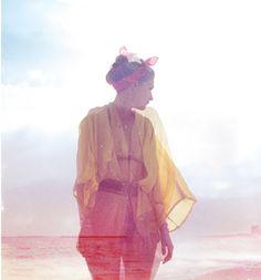 vintage kimono, Nina Ricci