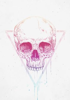 Skull in triangle (For Sale)