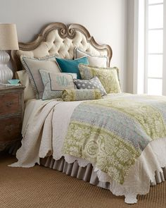 Shop bed and bath at Buyer Select. Our curated selection includes beautiful duvet covers, designer, and luxury bedding sets as well as sumptuous linens. Bedroom Green, Bedroom Sets, Home Bedroom, Bedroom Decor, Master Bedrooms, Bed Linen Design, Duvet Cover Design, Bed Design, Blue Comforter Sets