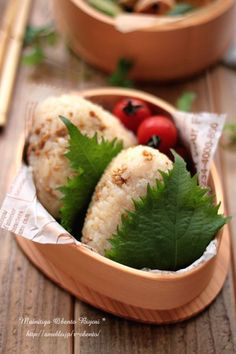 Sweet & spicy shiso-wrapped onigiri bento box