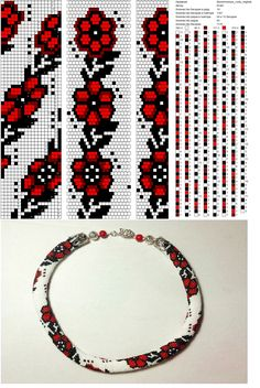 funky pop art looking roses bead crochet rope i like the colors in the picture below the pattern change all colors around for different funky looks - PIPicStats Crochet Bracelet Pattern, Crochet Beaded Bracelets, Bead Crochet Patterns, Bead Crochet Rope, Beading Patterns, Beaded Crochet, Beaded Beads, Beaded Necklace Patterns, Beaded Lanyards
